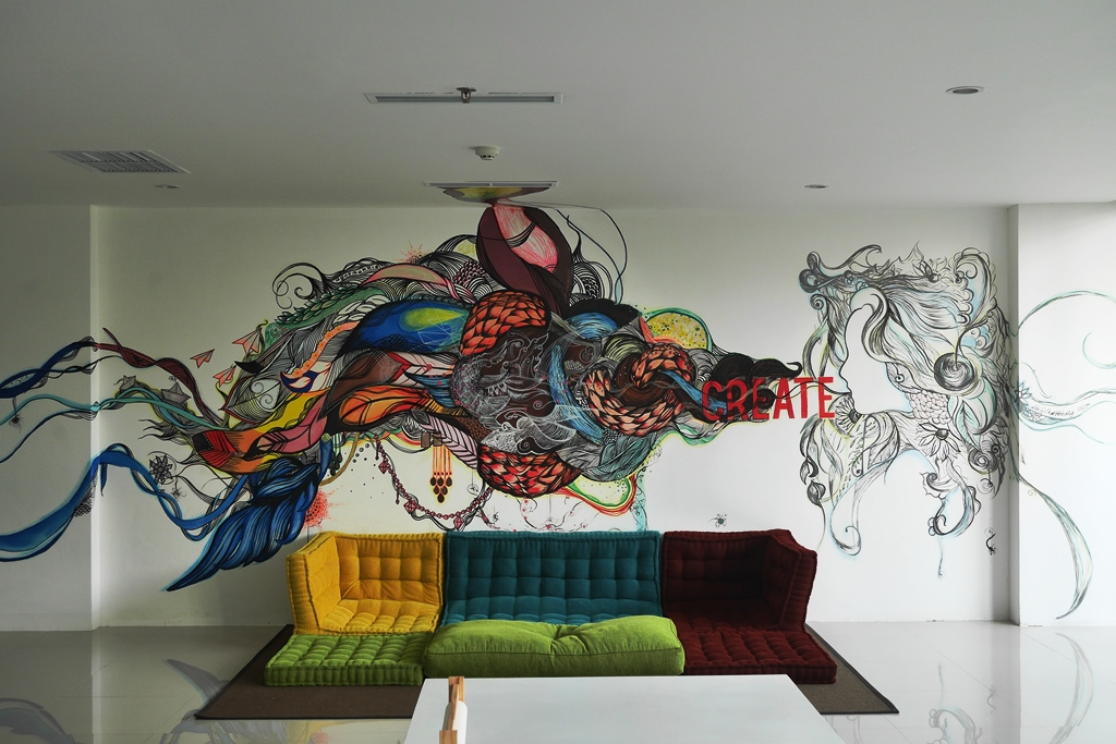 Mural di Ruang Kreatif Anak