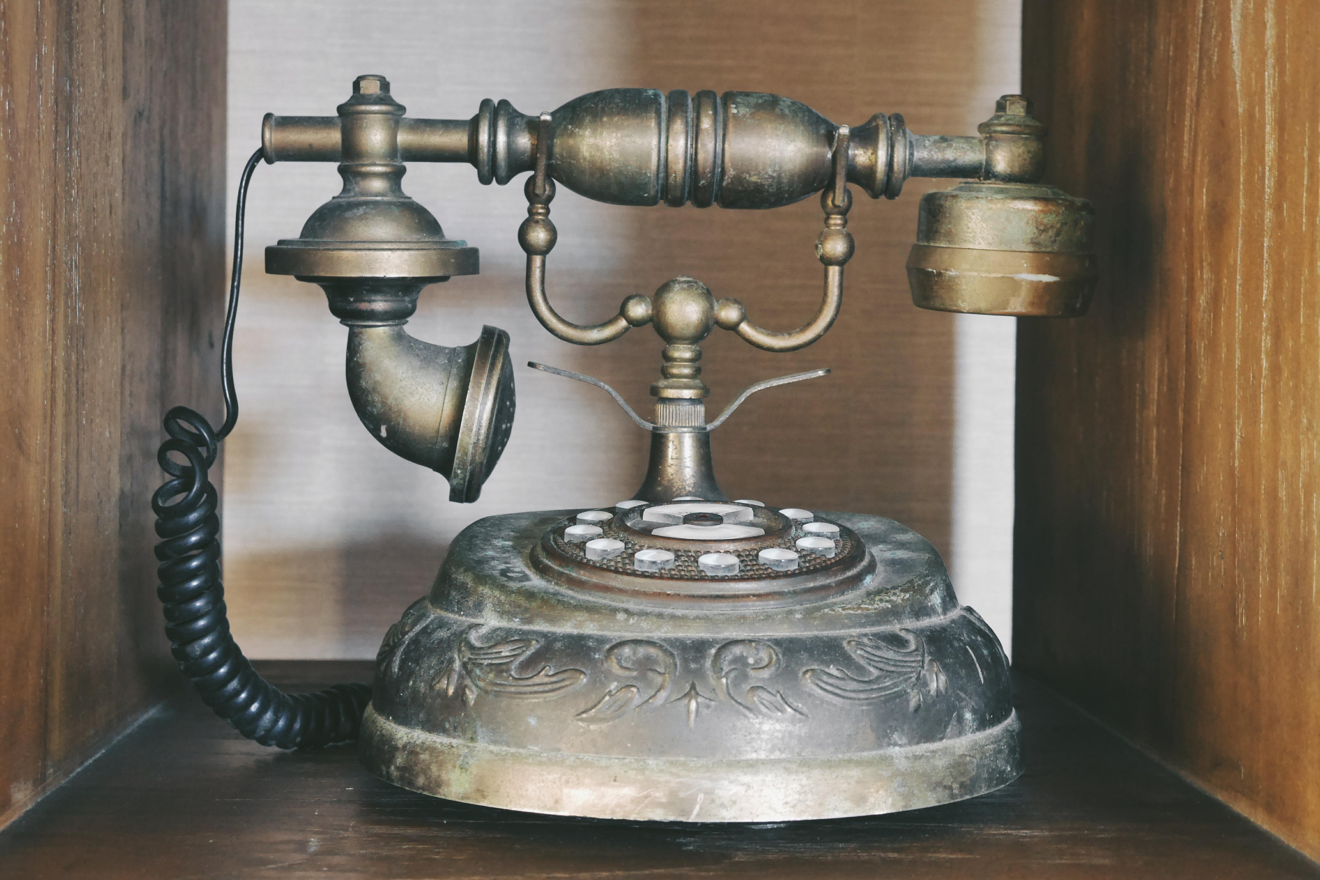 Telepon Kuno melambangkan unsur Vintage