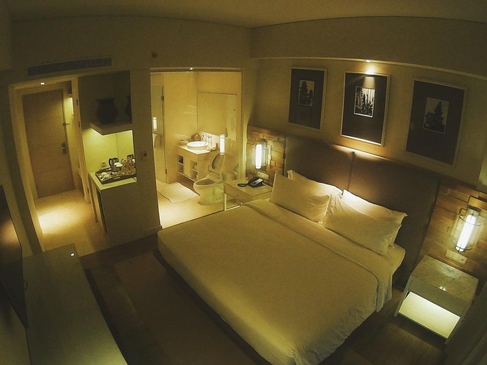Kamar Deluxe dengan ukuran 28 m2